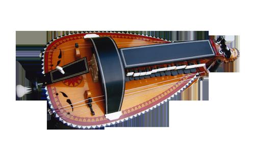 vielle à roue ronde - décor n°9 -  Atelier Boudet