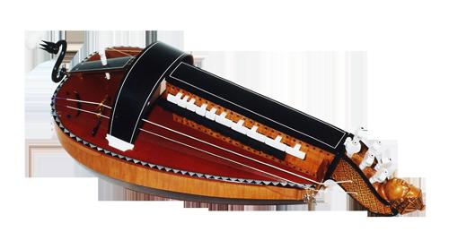 vielle à roue ronde - décor n°3 -  Atelier Boudet
