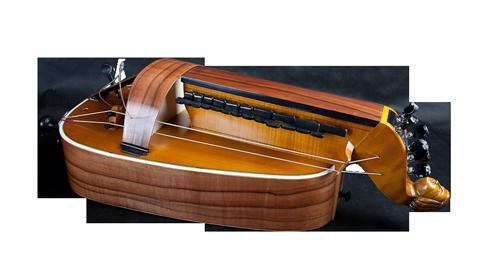 vielle à roue plate - décor n°2 -  Atelier Boudet
