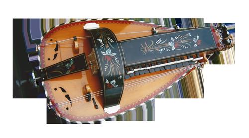 vielle à roue ronde - décor n°11 -  Atelier Boudet