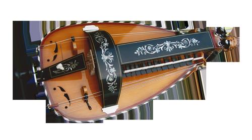 vielle à roue ronde - décor n°10 -  Atelier Boudet