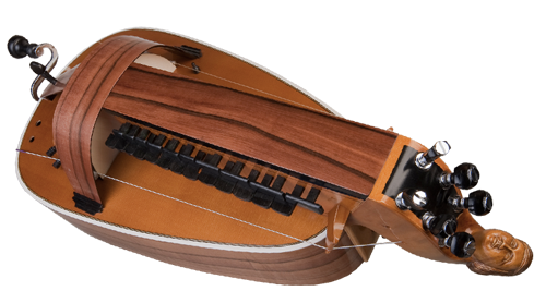 vielle à roue plate - décor n°1 -  Atelier Boudet