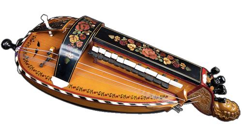 vielle à roue ronde - décor n°4 -  Atelier Boudet