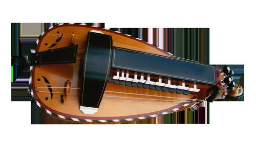 vielle à roue ronde - décor n°2 -  Atelier Boudet