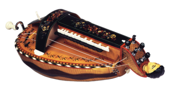 vielle à roue ronde - décor n°8 -  Atelier Boudet