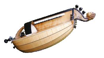 vielle à roue ronde - décor n°12 -  Atelier Boudet