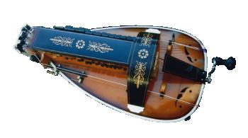 vielle à roue ronde - décor n°5 -  Atelier Boudet