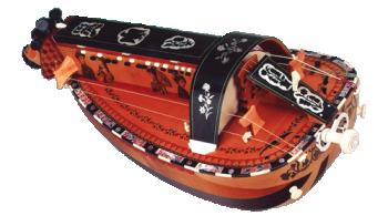 vielle à roue ronde - décor n°7 -  Atelier Boudet