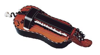 vielle à roue plate - décor n°3 -  Atelier Boudet